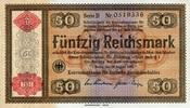 50 Reichsmark 28.8.1933(1934) Konversionskassenscheine (1934)  unc/kass... 180,00 EUR  zzgl. 4,50 EUR Versand