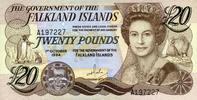 20 Pounds 01.10.1984 Falkland-Island Pick 15a unc/kassenfrisch  60,00 EUR