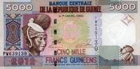 5.000 Francs 2012 Guinea Pick 41b unc/kassenfrisch  6,00 EUR  +  6,50 EUR shipping