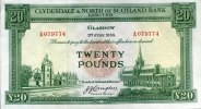 20 Pounds 01.6.1955 CLYDESDALE & NORTH OF SCOTLAND BANK Pick 193a unc/k... 525,00 EUR free shipping