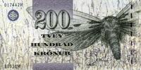 200 Kronur (20)03 Färöer-Insel Pick 26a unc/kassenfrisch  58,00 EUR  +  6,50 EUR shipping