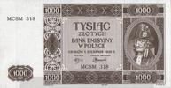 1.000 Zlotych  Polen Ros.583A unc/kassenfrisch  80,00 EUR