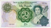 50 Pounds ND(1983) Isle of Man Pick 39a unc/kassenfrisch  180,00 EUR  +  6,50 EUR shipping