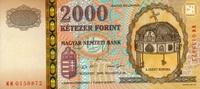 2.000 Forint 20.8.2000 Ungarn Pick 186a unc/kassenfrisch  19,00 EUR  +  6,50 EUR shipping