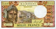 1.000 Francs (1988) Djibouti Pick 37b unc/kassenfrisch  60,00 EUR