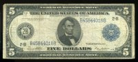 5 Dollars 1914 USA Pick 359b 3-4  55,00 EUR  +  6,50 EUR shipping