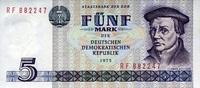 5 Mark 1975 Staatsbank der DDR 1971-1989 Ros.361c Thomas Müntzer. unc/k... 5,00 EUR