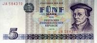 5 Mark 1975 Staatsbank der DDR 1971-1989 Ros.361a Thomas Müntzer. unc/k... 6,00 EUR  zzgl. 3,95 EUR Versand