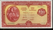 20 Pounds 1975 Irland-Republik Pick 67b 1/1-