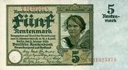 5 RENTENMARK 02.1.1926 DEUTSCHE RENTENBANK 1923-1937 - Ros.164b Bauernm... 175,00 EUR  +  6,50 EUR shipping
