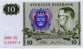 10 Kronor 1990 Schweden P.52e unc/kassenfrisch  4,50 EUR  zzgl. 3,95 EUR Versand