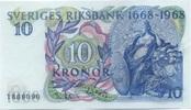 10 Kronor 1968 Schweden P.56a unc/kassenfrisch  10,00 EUR  +  6,50 EUR shipping