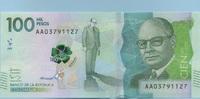 100.000 Pesos 08.8.2014(2016) Kolumbien - New Design - Polymer - Carlos... 70,00 EUR  +  6,50 EUR shipping