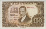 100 Pesetas 07.3.1953(1955) Spanien P.145 unc/kassenfrisch  22,00 EUR  zzgl. 4,50 EUR Versand