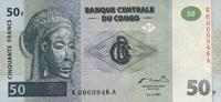 50 Francs 01.11.1997 Congo-Dem.Republik P.89a unc/kassenfrisch  50,00 EUR  zzgl. 4,50 EUR Versand