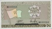 20 Francs 01.1.1976 Rwanda P.6e unc/kassenfrisch  6,50 EUR  zzgl. 3,95 EUR Versand