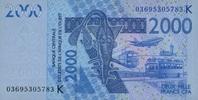 2.000 Francs 2003 West-Afrikanische Staaten P.716K.a unc/kassenfrisch  8,00 EUR  zzgl. 3,95 EUR Versand