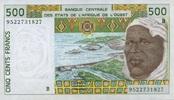 500 Francs (19)95 West-Afrikanische Staaten P.210 B.f unc/kassenfrisch  6,50 EUR  zzgl. 3,95 EUR Versand