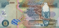 10.000 Kwacha 2003 Zambia P.46a unc/kassenfrisch  12,00 EUR  +  6,50 EUR shipping