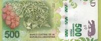 500 Pesos 2016 Argentinen - New Design - Jaguar/Blumen/Karte von Argent... 80,00 EUR  +  6,50 EUR shipping