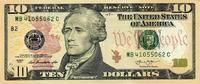 10 Dollars Serie 2013 USA - New York - unc/kassenfrisch  19,00 EUR  +  6,50 EUR shipping