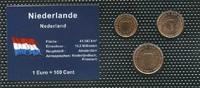 Set 3  Niederlande  Bankfrisch  1,00 EUR  zzgl. 3,95 EUR Versand