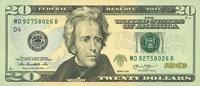 20 Dollars Serie 2013 USA - Cleveland - Neu 2013   32,00 EUR  zzgl. 4,50 EUR Versand
