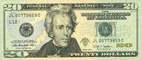 20 Dollars Serie 2009 USA - San Francisco - P.533-L unc/kassenfrisch  32,00 EUR  zzgl. 4,50 EUR Versand