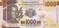 1.000 Francs 2015 Guinea - New Design - Serie 2015 - unc/kassenfrisch  2,10 EUR  zzgl. 3,95 EUR Versand