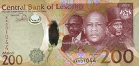 200 Maloti 2015 Lesotho - New Design - 2015 unc/kassenfrisch  35,00 EUR  zzgl. 4,50 EUR Versand