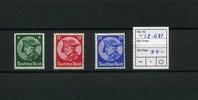 3 Werte 1933 Deutsches Reich(1931/1933) - 12. April. Eröffnungssitzung ... 75,00 EUR  zzgl. 4,50 EUR Versand