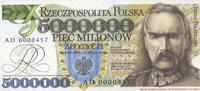 12.5.1995 Polen - 5 Millionen Zlotych - offizieller Nachdruck - unc/ka... 48,00 EUR  +  6,50 EUR shipping