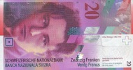 20 Franken 2014 Schweiz P.69g/2014 unc/kassenfrisch  32,00 EUR  +  6,50 EUR shipping