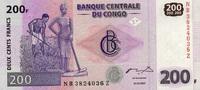 200 Francs 31.7.2007 Congo-Dem.Republik  unc/kassenfrisch  2,65 EUR  +  6,50 EUR shipping