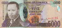 5.000 Dollars  Jamaica Pick 87a unc  110,00 EUR  zzgl. 4,50 EUR Versand