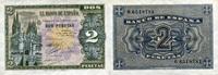 2 Pesetas 30.4.1938 Spanien P.109a unc/kassenfrisch  120,00 EUR  zzgl. 4,50 EUR Versand