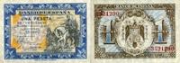 1 Peseta 01.6.1940 Spanien P.121a unc/kassenfrisch  220,00 EUR  +  6,50 EUR shipping