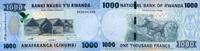 1.000 Francs 01.5.2015 Rwanda P.39/2015 unc/kassenfrisch  5,20 EUR