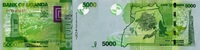 5.000 Shillings 2015 Uganda P.51d/2015 unc/kassenfrisch  4,00 EUR