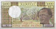 5.000 Francs ND(1979) Djibouti Pick 38a unc  110,00 EUR  +  6,50 EUR shipping