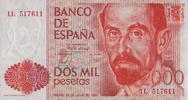 2.000 Pesetas 22.7.1980 Spanien Pick 159 unc/kassenfrisch  55,00 EUR  +  6,50 EUR shipping