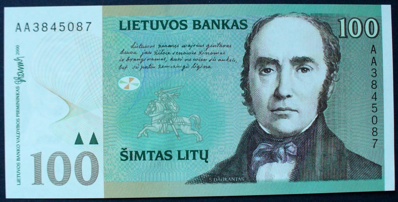 100 Litu 2000 Litauen P. 62 UNC