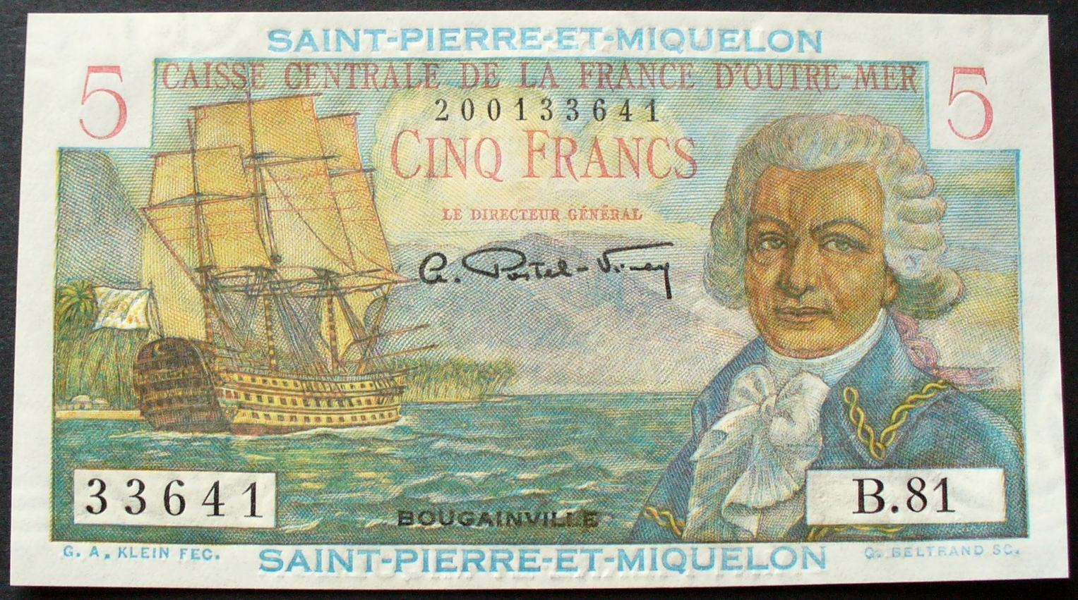 Saint Pierre & Miquelon P. 22 5 Francs ND(1950-60) kfr