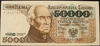 50.000 Zloty 1.12.1989 Polen P. 153 a / Serie F 2407828 kfr  26,00 EUR