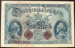 5 Mark 5.8.1914 Deutschland Ros. 48 b / Serie X.5861903 I-  45,00 EUR  zzgl. 6,00 EUR Versand