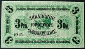 3 Rubel 1915 Lettland Ro. LE 13 a kfr  25,00 EUR