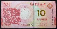 10 Patacas 2012 Macao P. NEW / Banco Da China kfr  25,00 EUR  zzgl. 4,00 EUR Versand
