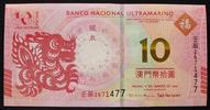 Macao 10 Patacas 1.1.2012 kfr P. NEW / Ban...