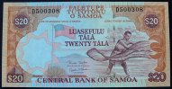Samoa 20 Tala ND(2002) kfr P. 35 b / Serie D