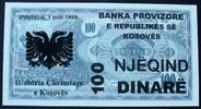 100 Dinare 1.4.1999 Kosovo  kfr  45,00 EUR